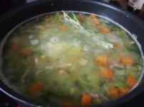 Marquage du potage en cuisson