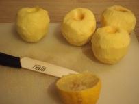 Pommes épluchées