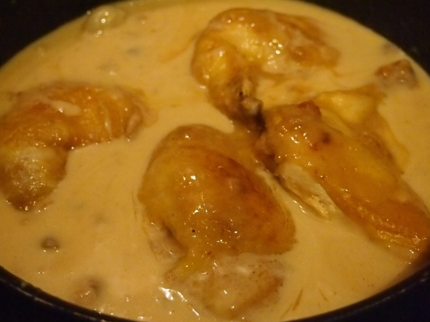 Fricassée de poulet à l'ancienne